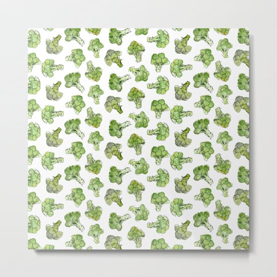 Broccoli - Scattered Metal Print