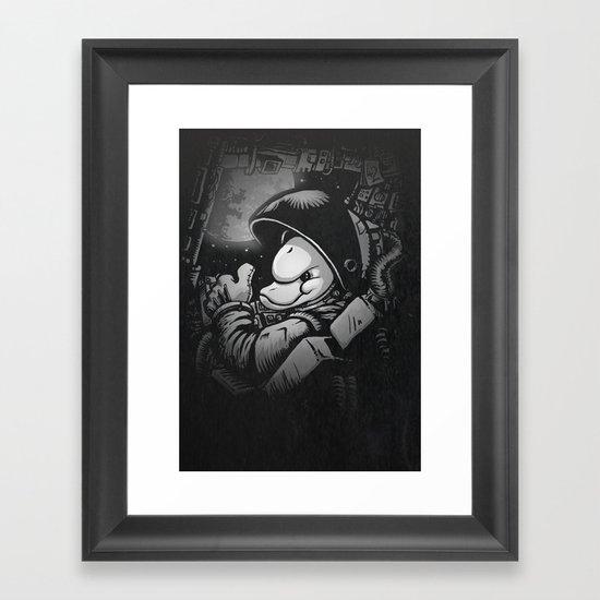 so long and thanks! Framed Art Print