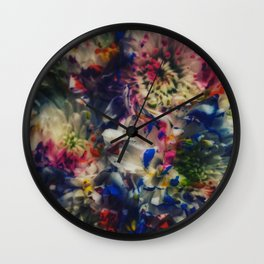 Painted Bouquet Wall Clock