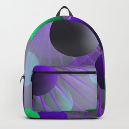 crazy lines and balls -3- Backpack