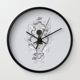 The Universe Keyhole Wall Clock