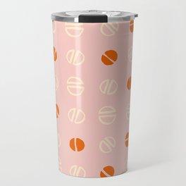 pink and orange modernist Travel Mug