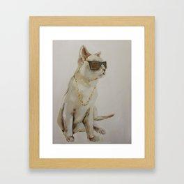The Coolest Cat Framed Art Print