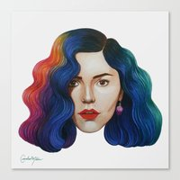 marina and the diamonds Canvas Prints featuring Marina by Cannibal Malabar