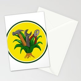 Agave With Hammer Spanner Pliers Water Color Stationery Cards