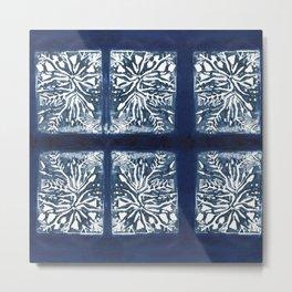 Planted in Blue Metal Print