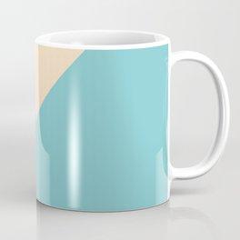 Green and blue and beige triangular pastel background Coffee Mug