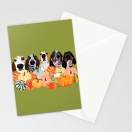 Coonhounds and Gourd Stationery Cards
