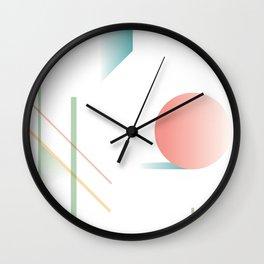Swimming Pools and Coral Suns Wall Clock