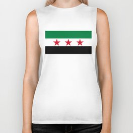 Syrian Independence Flag  High quality Biker Tank