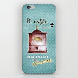 Coffee Ground with Love iPhone Skin