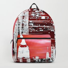 Abstract Red In The City Design Backpack