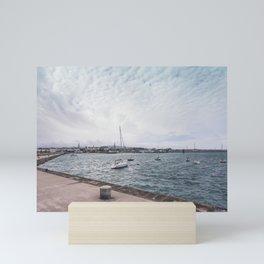 Boats docked Mini Art Print