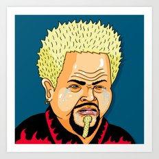 Cry Fieri Art Print
