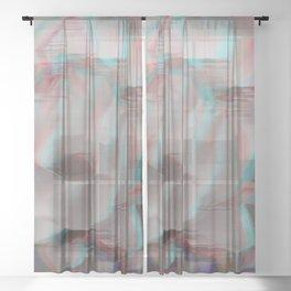 Lotus Glitch Sheer Curtain