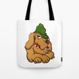 detective dog cartoon Tote Bag