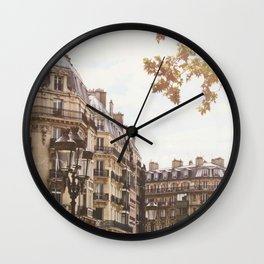 Paris Architectural Street Scene Wall Clock