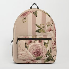 Flowers and Stripes Two Backpack