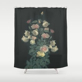 Roses in the dark Shower Curtain