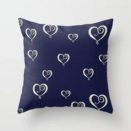 Polka Heart Party Throw Pillow