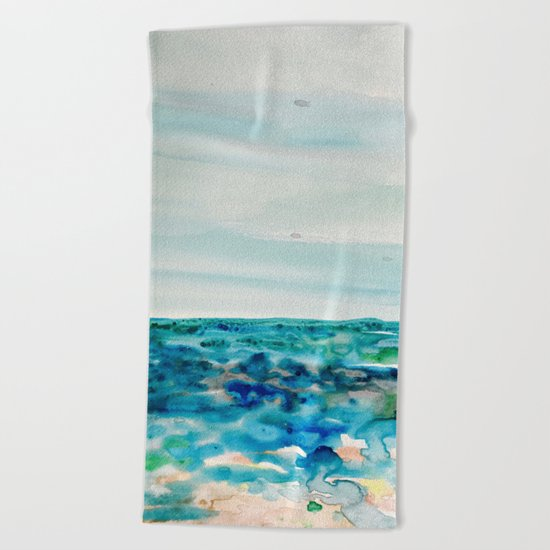 Miami Beach Watercolor #8 Beach Towel