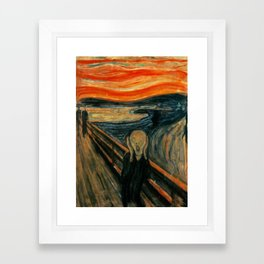 The Scream - Edvard Munch Framed Art Print