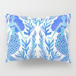 Kelp Forest Mermaid – Blue Palette Pillow Sham