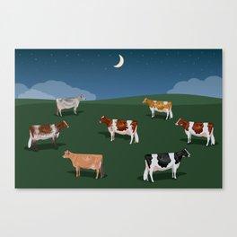 Night on the Hillside Canvas Print