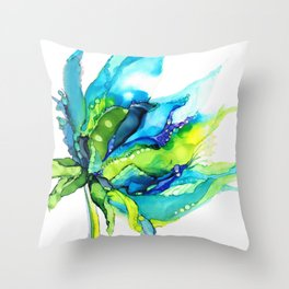 Turquoise Organic Throw Pillow