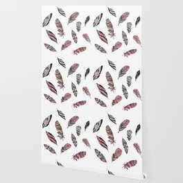 Ink boho feather design Wallpaper