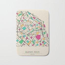Colorful City Maps: Buenos Aires, Argentina Bath Mat