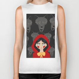 Red riding Hood and the wolf Biker Tank