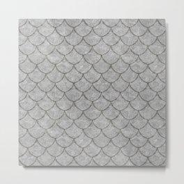 Silver Dragon Scale Metal Print