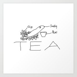 Chippy tea Art Print