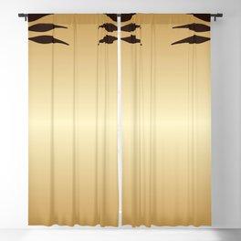 Golden Art nouveau Blackout Curtain