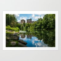 central park Art Prints featuring Central Park by hannes cmarits (hannes61)