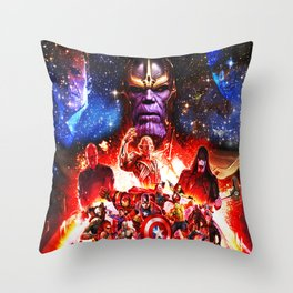 fight her severe heroes Throw Pillow