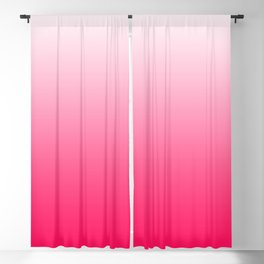White and Warm Pink Gradient 045 Blackout Curtain