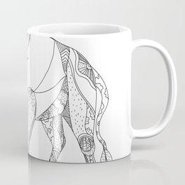 African Buffalo Charging Doodle Coffee Mug