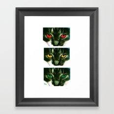 CAT CROSSING Framed Art Print