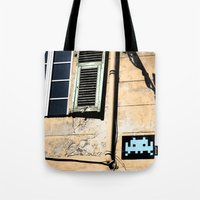 invader zim Tote Bags featuring Invader by theGalary