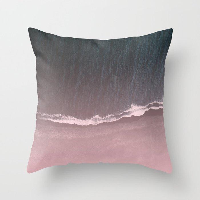 Fade into the sea Throw Pillow