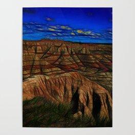 South Dakota Badlands Tall peaks Poster