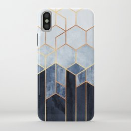 Soft Blue Hexagons iPhone Case