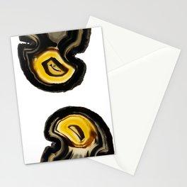 Hawk's eyes agates Stationery Cards