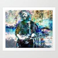 phish Art Prints featuring Trey Anastasio - Phish Original Painting Print by RockChromatic