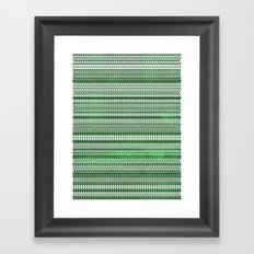 Tribality Green Texture Framed Art Print