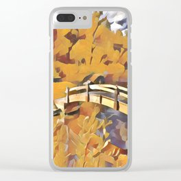 Dreamland Gold Clear iPhone Case