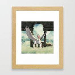 Cute little pegasus Framed Art Print