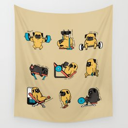Pug Leg Day Wall Tapestry